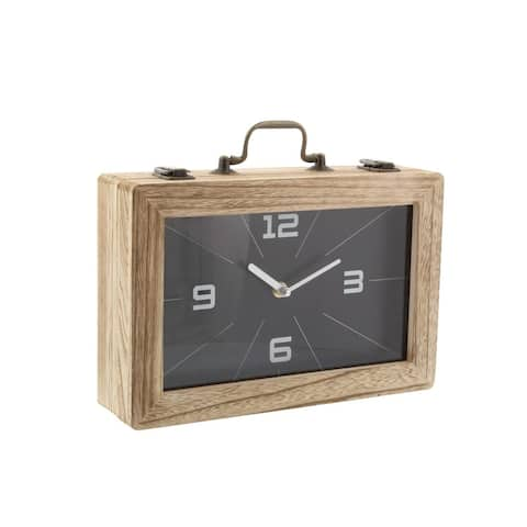 The Curated Nomad Ashby Wood Clock Box (12 x 8)