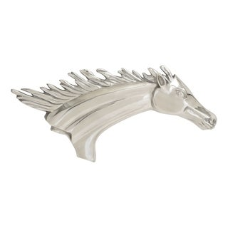Studio 350 Aluminum Wall Horse Decor 25 inches wide, 11 inches high