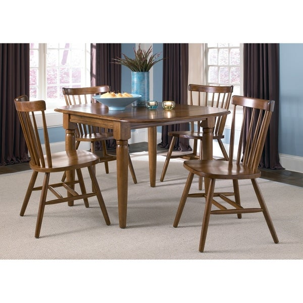 Creations II Tobacco Brown Drop Leaf Dining Table