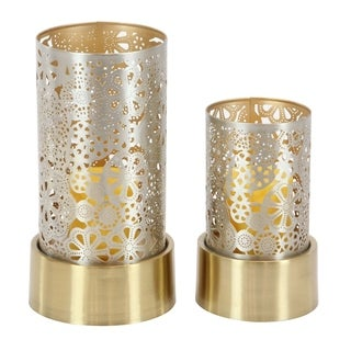 Studio 350 Metal Candle Holder Set of 2, 8 inches, 10 inches high