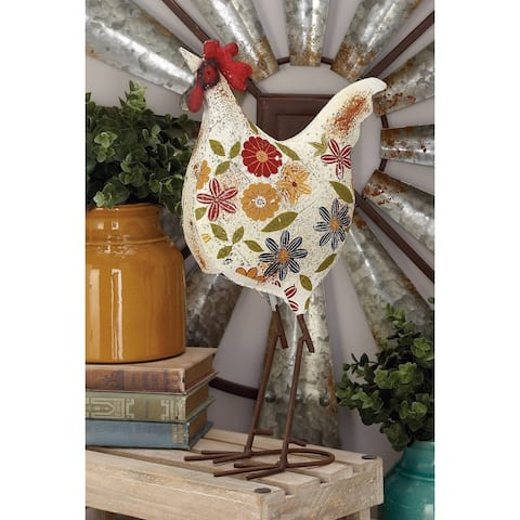 The Gray Barn Jartop Metal Rooster 10-inches wide, 17-inches high