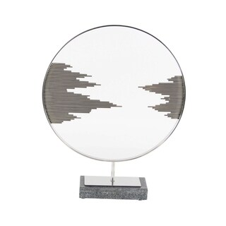 Studio 350 Stainless Steel Marble Decor 19 inches wide, 23 inches high