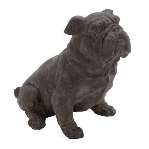 Havenside Home Rye Dark Bronze Finish Polystone Bull Dog