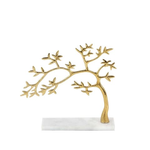 Carson Carrington Andalsnes Gold-finished Aluminum Marble Tree (12'' x 11'')