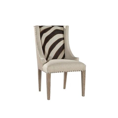 Zebra Print Scoop Chair