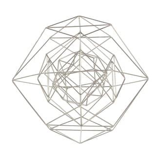 Carson Carrington Alavus Metal Wire Silver Sphere