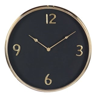 shop studio 350 stainless steel wall clock 18 inches d free shipping on orders over 45. Black Bedroom Furniture Sets. Home Design Ideas