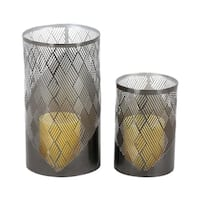 Studio 350 Metal Candle Holder Set of 2, 6 inches, 9 inches high
