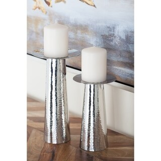 Studio 350 Stainless Steel Candle Holder Set of 3, 6 inches, 8 inches, 11 inches high
