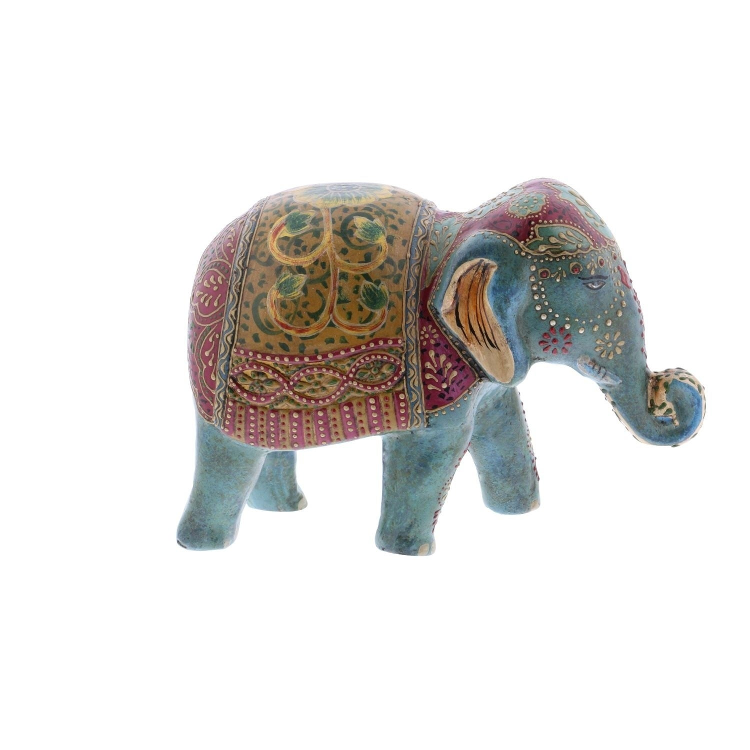 Studio 350 Paper Mache Elephant 9 inches wide, 6 inches h...