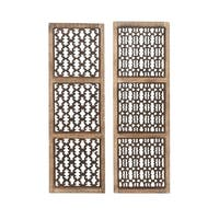 Studio 350 Wood Carved Wall Panel Set of 2, 12 inches wide, 36 inches high