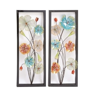 Studio 350 Metal Wall Decor Set of 2, 15 inches wide, 38 inches high