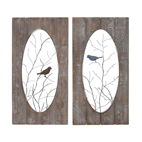 The Gray Barn Jartop Metal/ Wood Wall Panel (Set of 2)
