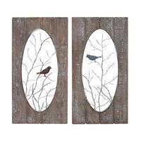 The Gray Barn Jartop Metal/ Wood Wall Panel (Set of 2)