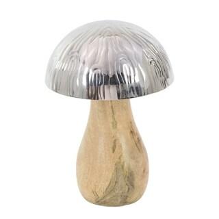The Gray Barn Jartop Stainless Steel/ Wood Mushroom