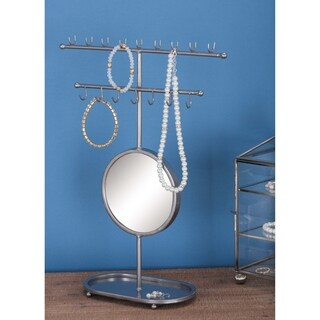 Studio 350 Metal Mirror Jewelry Holder 11 inches wide, 15 inches high