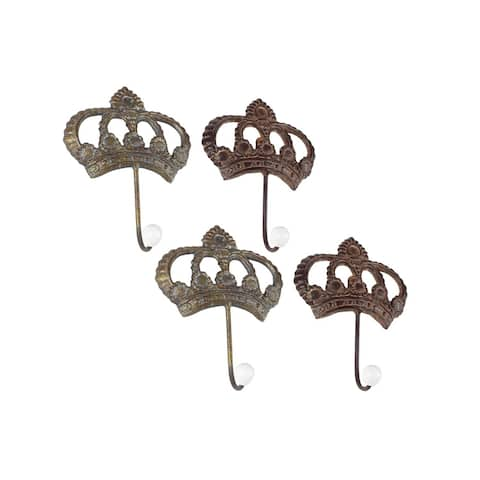 Studio 350 Metal Wall Hook Set of 4, 6 inches wide, 8 inches high