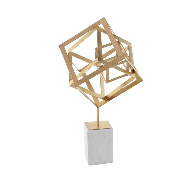 Shop Studio 350 Metal Marble Box Sculpture 12 Inches Wide