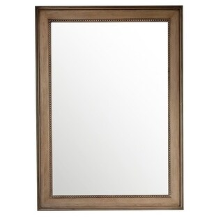 "Bristol 29"" Rectangular Mirror, White Washed Walnut - White Washed"