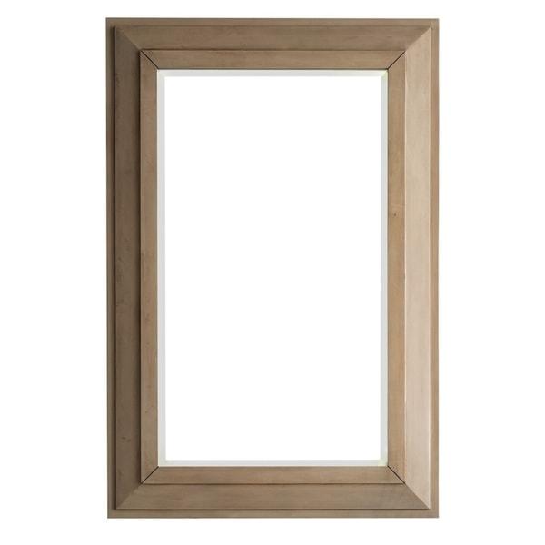"Portland 28"" Rectangular Mirror, White Washed Walnut - White Washed - A/N"