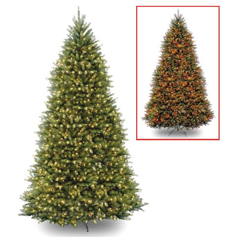 12 ft. PowerConnect Dunhill Fir with Dual Color LED Lights