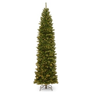 10 ft. North Valley Spruce Pencil Slim Tree with Clear Lights