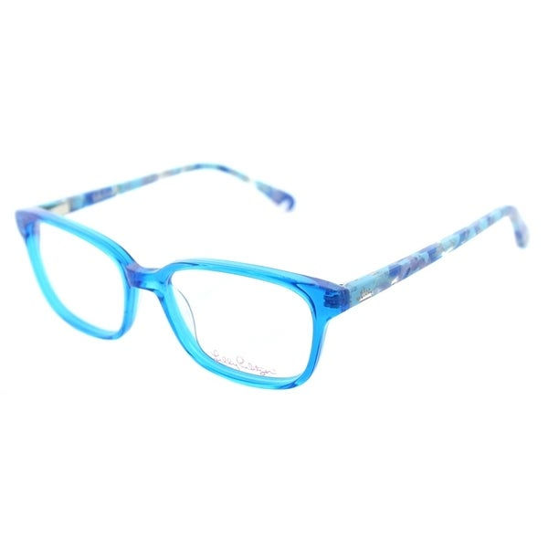 Shop Lilly Pulitzer Square Topanga Girls AQ Children Aqua Frame ...