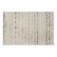 Kavka Designs Ivory/Grey Heliopolis Flat Weave Bath mat (2' x 3')