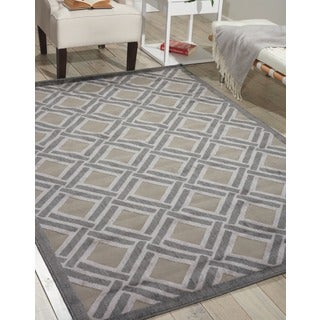 Nourison Graphic Illusions Grey Rug (5' x 8'4)