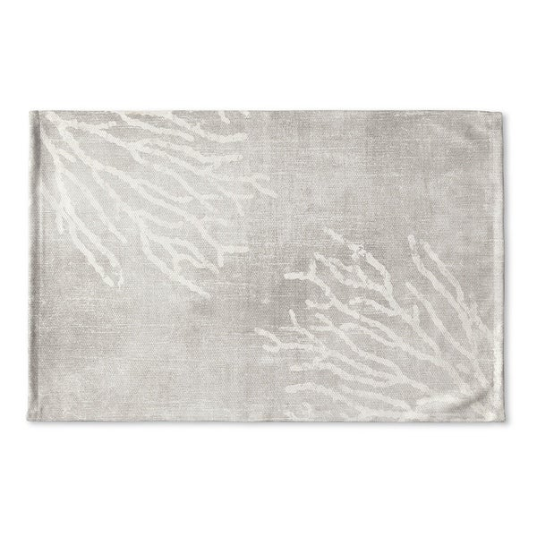 Kavka Designs Grey/White Sultana Gray Flat Weave Bath mat (2' x 3')