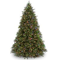 Jersey Fraser Green Plastic and Metal 9-foot Fir Tree With Multi-colored Lights