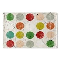Kavka Designs Red/Green/Orange/Blue/Brown Nova Flat Weave Bath mat (2' x 3')