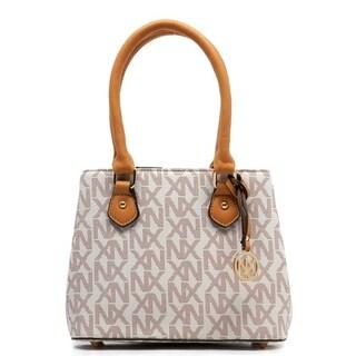Noble Exchange Mini Ivory Satchel Handbag