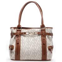 Noble Exchange Monogram Ivory Tote Handbag