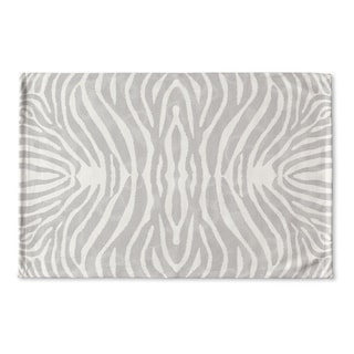 Kavka Designs Grey/Ivory Safari Flat Weave Bath mat (2' x 3')