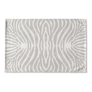 Kavka Designs Grey/Ivory Safari Flat Weave Bath mat (2' x 3')