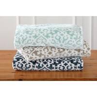 Home Fashion Designs Reesa Collection Ultra Velvet Plush Oversize Throw Blanket with Lattice Print