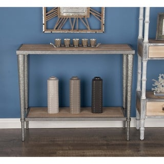 Studio 350 Metal Wood Brown, Silver Console Table