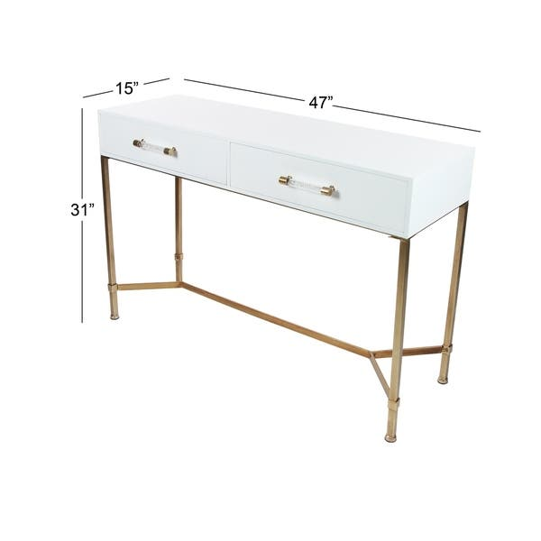 newest collection 61ff7 b38b9 Shop Modern 31 Inch Rectangular White 2-Drawer Console Table ...