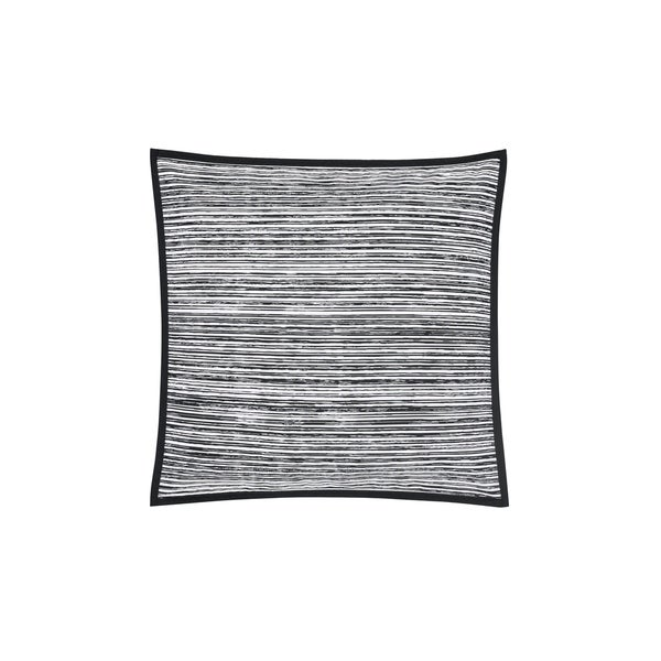 Five Queens Court Felix Twill Cotton 20 Inch Square Throw Pillow - Black