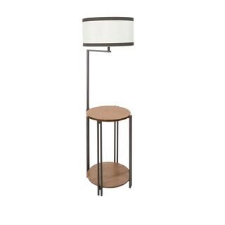 Allen Side Table Floor Lamp with USB Port