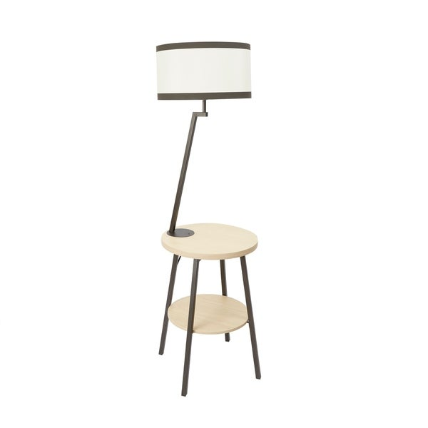 Shop Aiden Side Table Floor Lamp With Usb Port Free