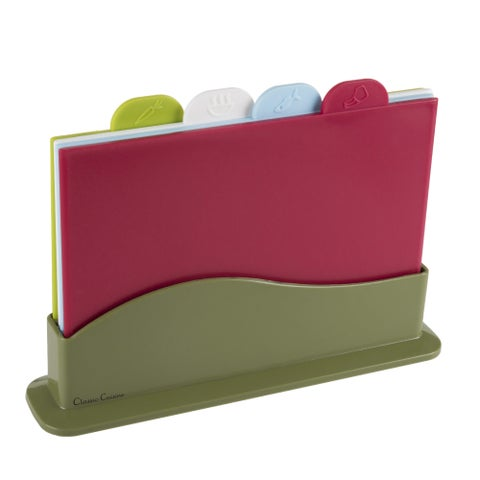 Classic Cuisine 5 Piece Color Coded Cutting Boards