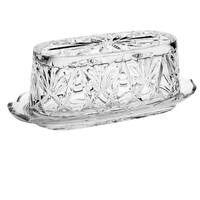 Majestic Gifts Cut Crystal Covered Rectangular Butter Dish