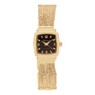 Geneva Platinum Women's Square Case Multi-strand Bracelet Watch