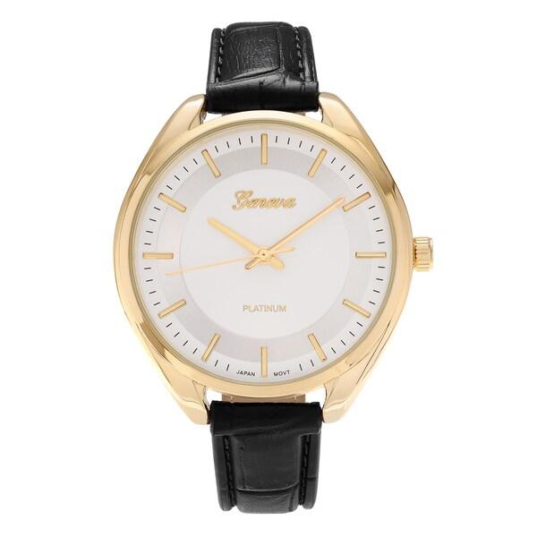 b0d9544dc7f ... Women s Watches. Geneva Platinum Women  x27 s Round Face Faux Crocodile Leather  Strap Watch