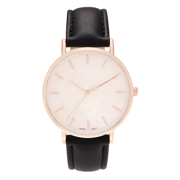 ada8579e545 ... Women s Watches. Geneva Platinum Women  x27 s Round Face Faux Mother of  Pearl Strap Watch