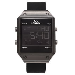 NY London Men's Square Face Digital Black Strap Watch|https://ak1.ostkcdn.com/images/products/17332409/P23577811.jpg?impolicy=medium