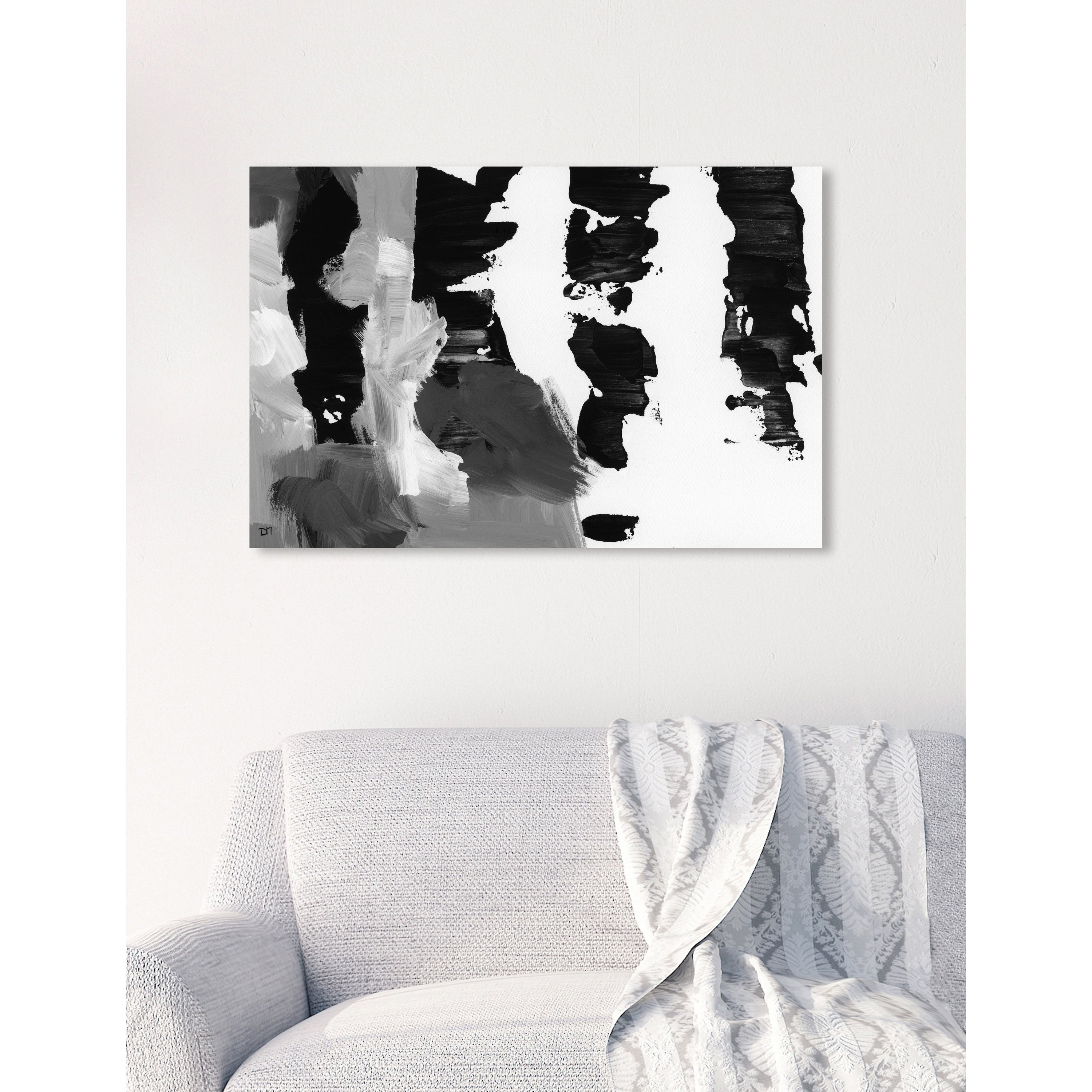 Oliver Gal Pronto Black And White Abstract Wall Art Canvas Print Black White