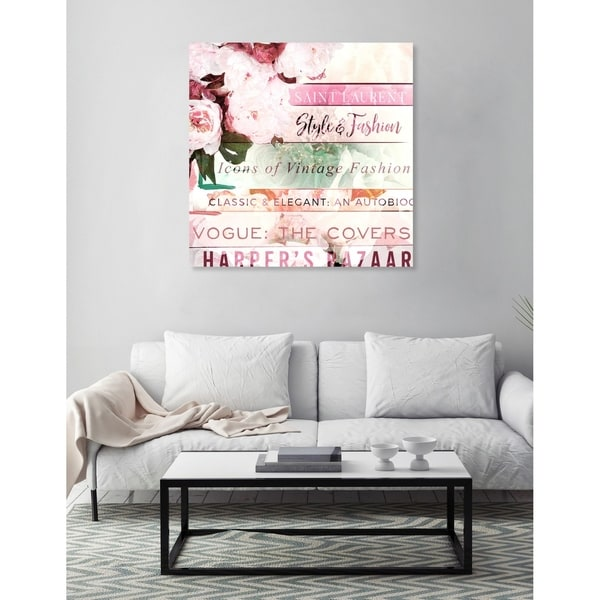 Oliver Gal 'Pastel Romantic Books' Fashion Wall Art Canvas Print